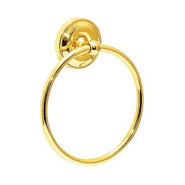 ゴールドに輝く真鍮製 タオルリング