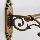 エレガントなデザインの真鍮古色仕上げ タオルバー36 CL AN 詳細