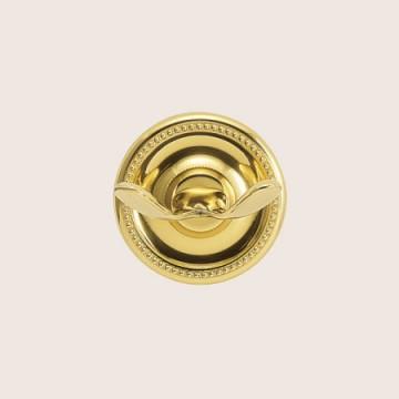 エレガントなゴールド色の真鍮製タオルフック PB