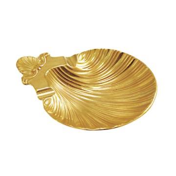 貝殻をモチーフにした美しい真鍮製トレー シェル