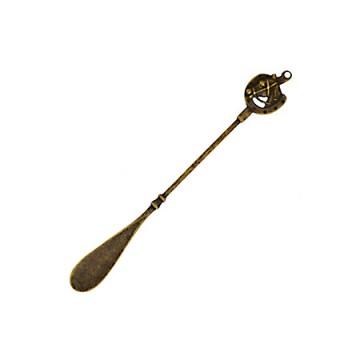 真鍮古色仕上げのクツベラ 蹄鉄S AN
