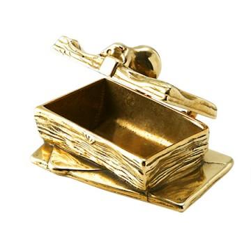 可愛らしいデザインの真鍮製小物入れ マウス