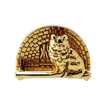 可愛らしい真鍮製カード立て ネコ