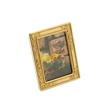 上品なデザインの真鍮製写真立て 額-スイセン タテ S-