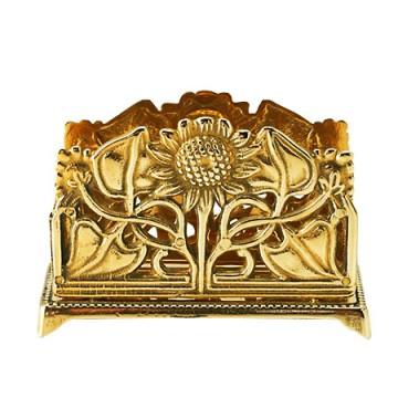 ひまわりが印象的な真鍮製カード立て サンフラワー