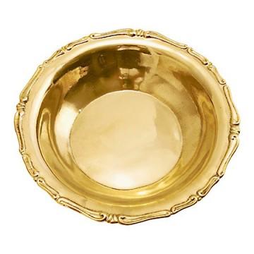ヨーロピアンデザインの真鍮製飾り皿7585