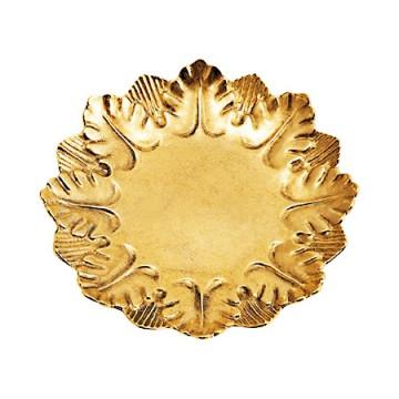 葉っぱをモチーフにしたカワイイ真鍮製トレー リーフ