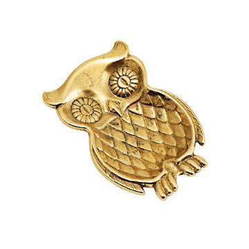 フクロウのデザインがカワイイ真鍮製トレー フクロウ