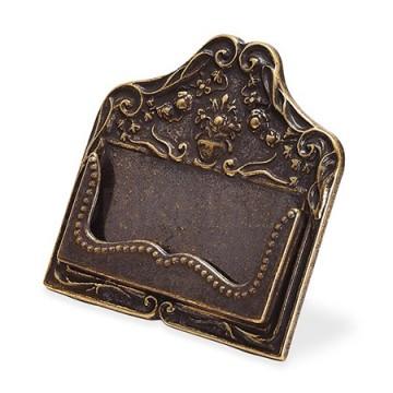 真鍮古色仕上げのカードスタンド AN