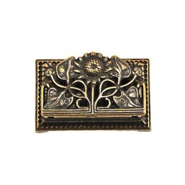 真鍮古色仕上げの切手ケース ヒマワリ AN