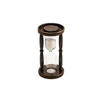 真鍮古色仕上げの砂時計 E AN