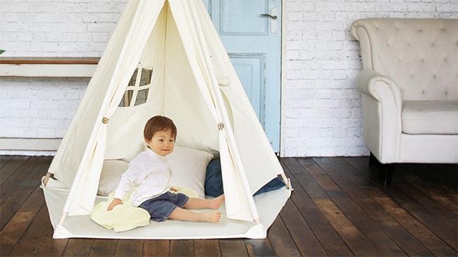 幼児用室内テント、リトルティピー。ギフトにもおすすめのミニティピーです