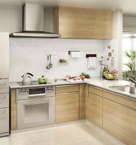 キッチンにマグピタボード実例
