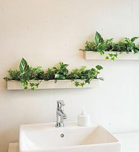 〔New〕アイエム 額縁グリーンポット 壁面・卓上両用の造花 IMGR4022-4024(サイズ選択)
