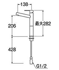 混合水栓01の図面