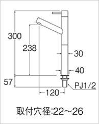 単水栓02の図面