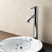 水栓と洗面ボウル半埋めイメージ