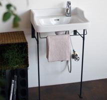 ハイバック洗面器と専用アングルの使用例01